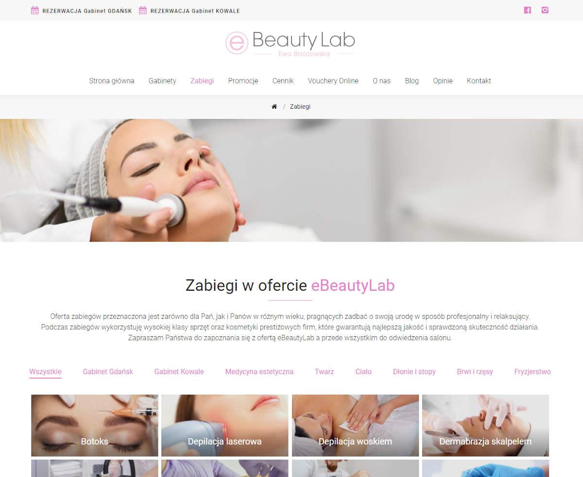 Gabinety kosmetologiczne eBeautyLab