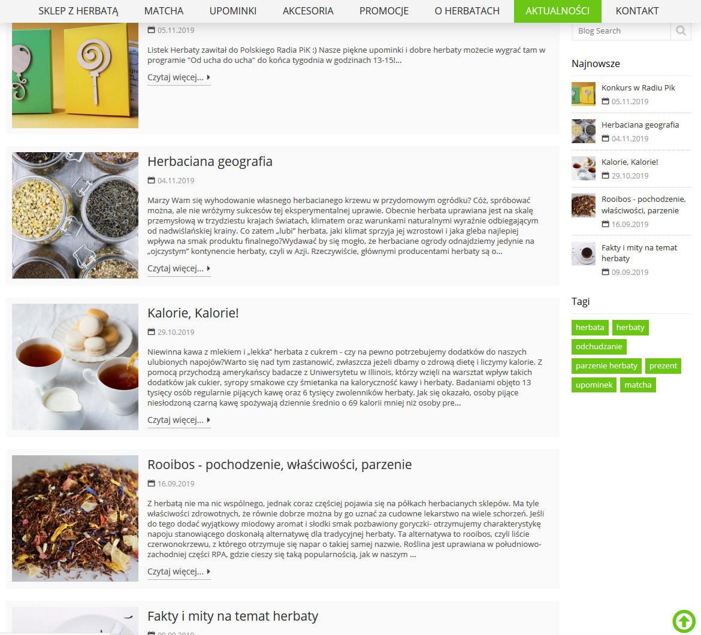Listek Herbaty - sklep z herbatą